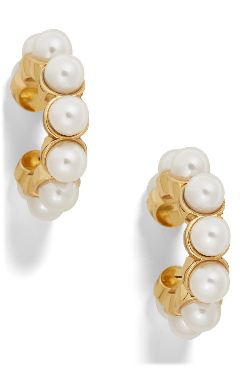 BAUBLEBAR Clasina Set of 2 Genuine Pearl Ear Cuffs, Main, color, GOLD PEARL