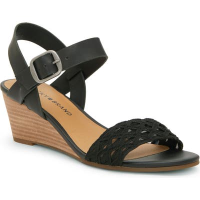 Lucky Brand Jaliena Wedge Sandal- Black