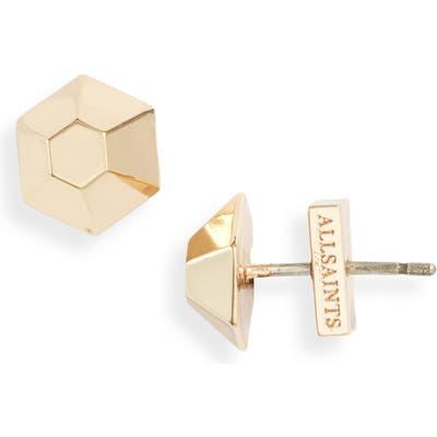 Allsaints Hexagonal Dome Stud Earrings (Nordstrom Exclusive)