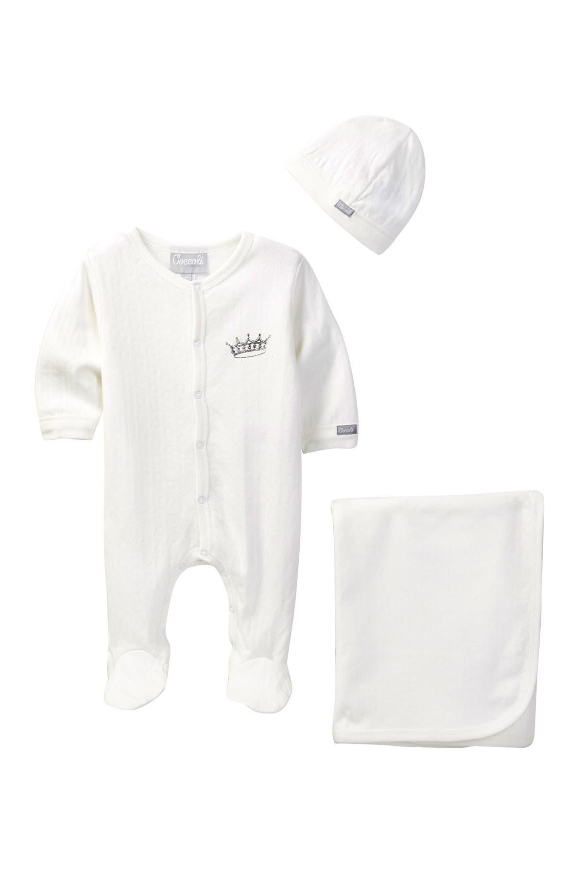 Image of Coccoli Footie, Cap, & Blanket Set