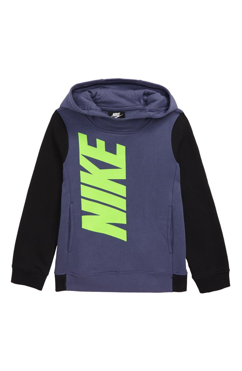 NIKE Core Amplify Hoodie, Main, color, SANDED PURPLE/ BLACK
