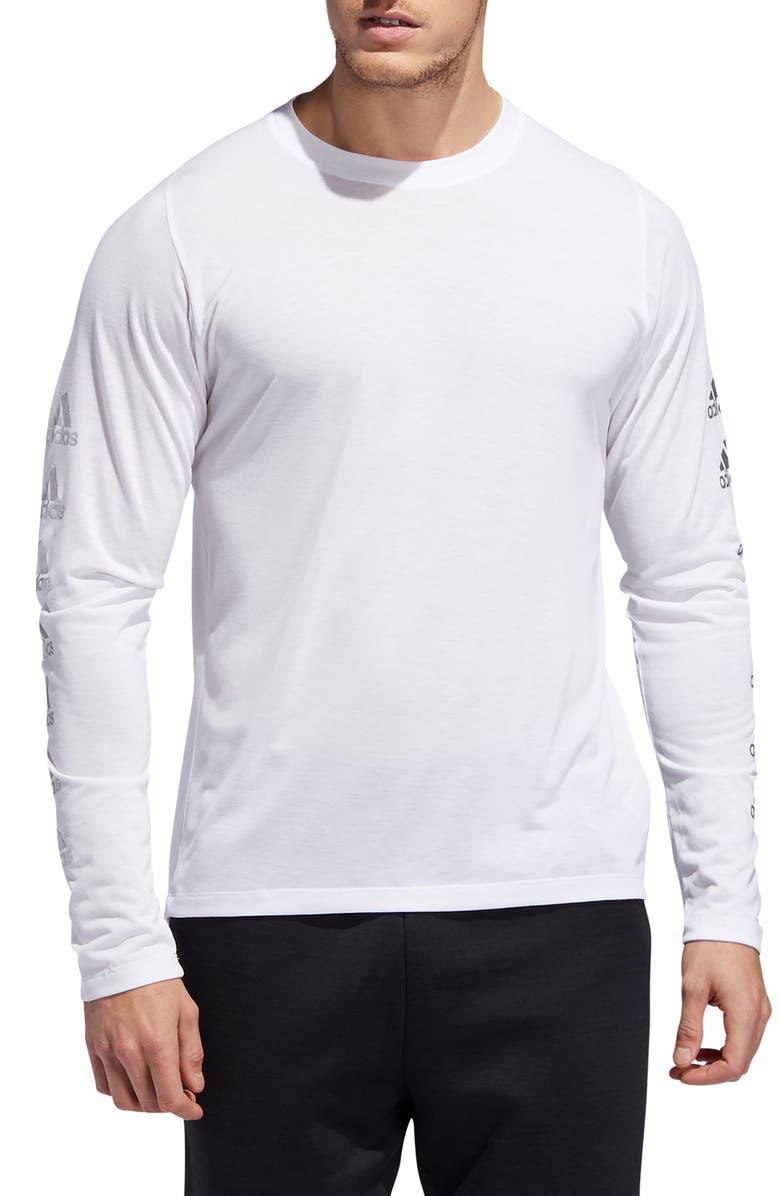 ADIDAS FreeLift Long Sleeve T-Shirt, Main, color, WHITE