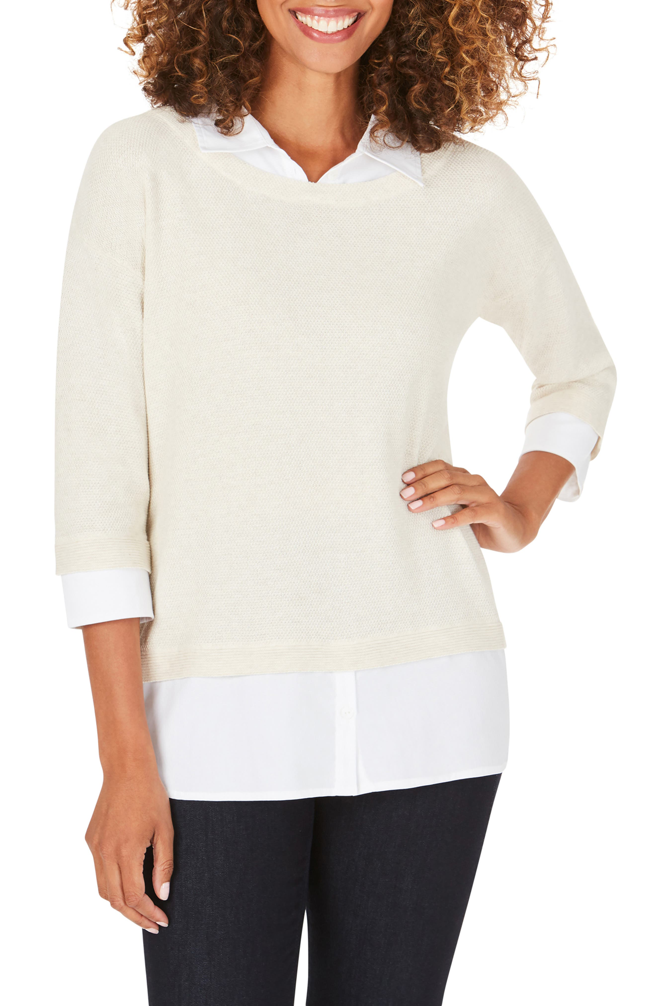 Miles Layered Shirt & Sweater Pullover