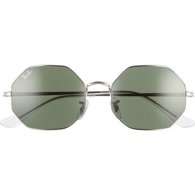 Ray-Ban 1972 5m Octagon Sunglasses - Silver/ Green Solid