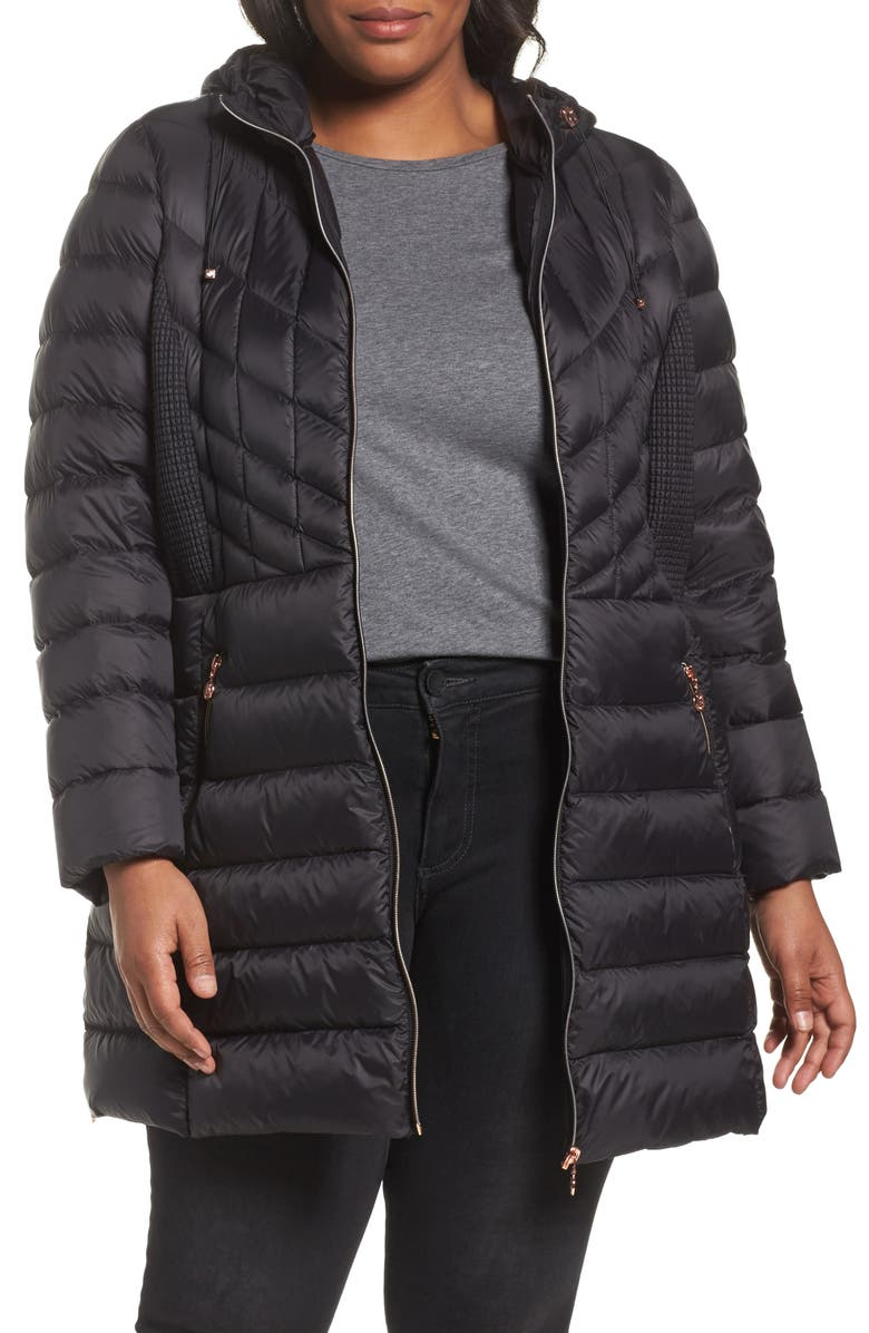Bernardo Hooded Packable Down & PrimaLoft® Coat (Plus Size ...