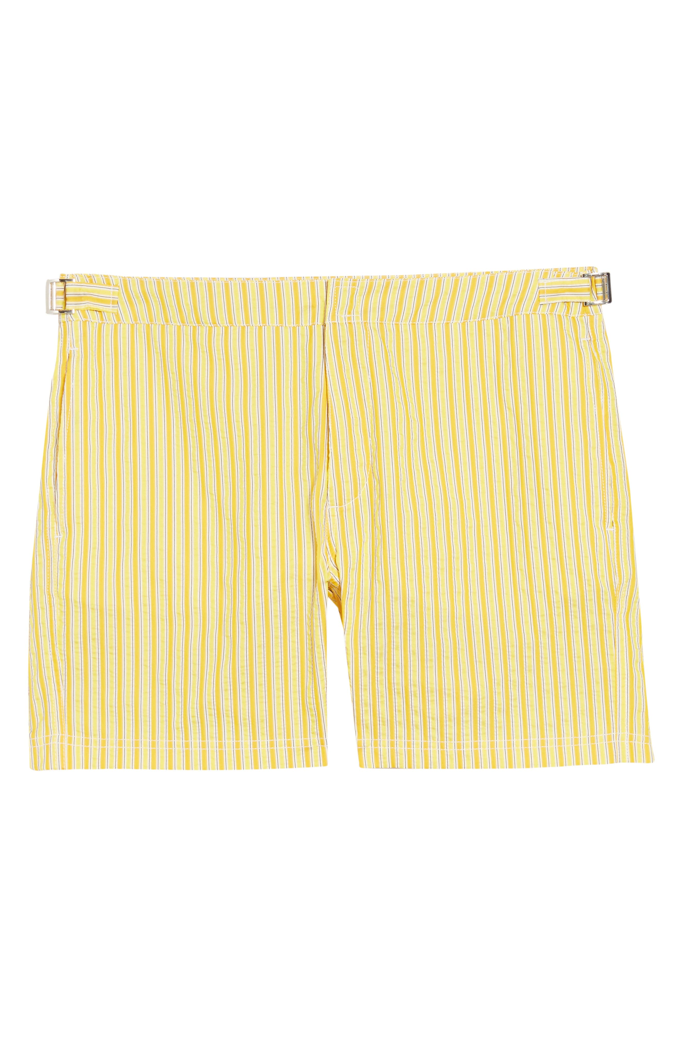 Variegated stripes make a splash on lightweight board shorts cut from quick-drying material that keeps you comfortable in and out of the waves. Style Name: Bugatchi Stripe Board Shorts. Style Number: 6039793 1. Available in stores.