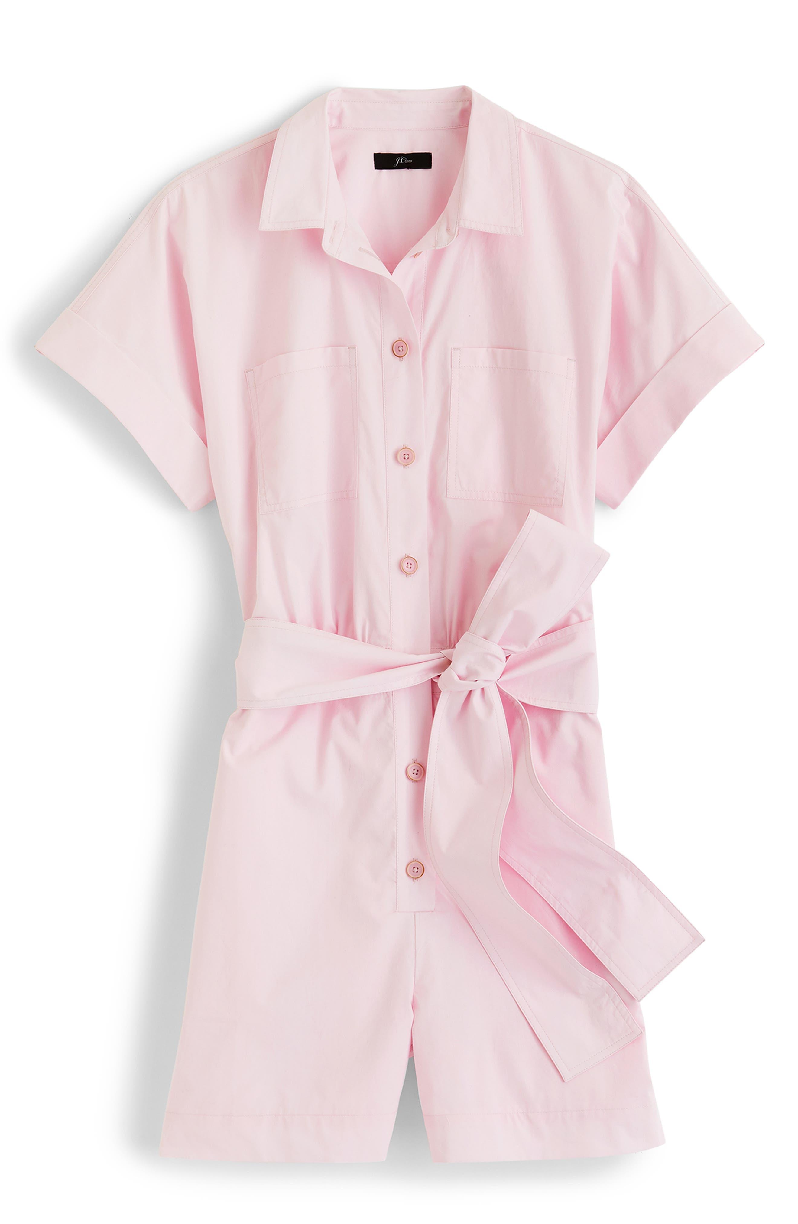 J.crew Button-Up Short Romper, Pink