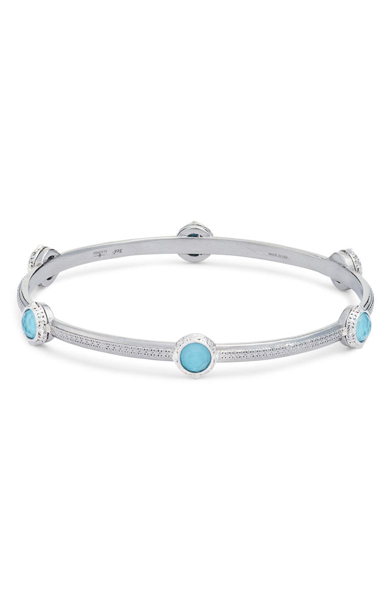 ARMENTA New World Filigree Bangle, Main, color, SILVER