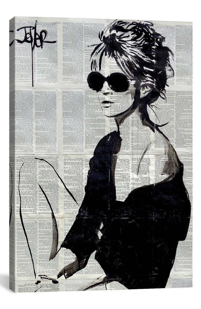 ICANVAS Summers End by Loui Jover Giclée Print Canvas Art, Main, color, BLACK