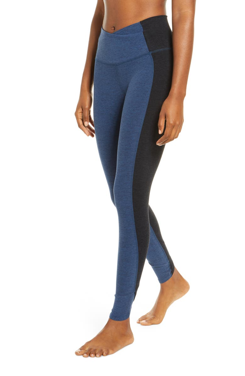 BEYOND YOGA Space Dye Home Run High Waist Leggings, Main, color, INSIGNIA NAVY