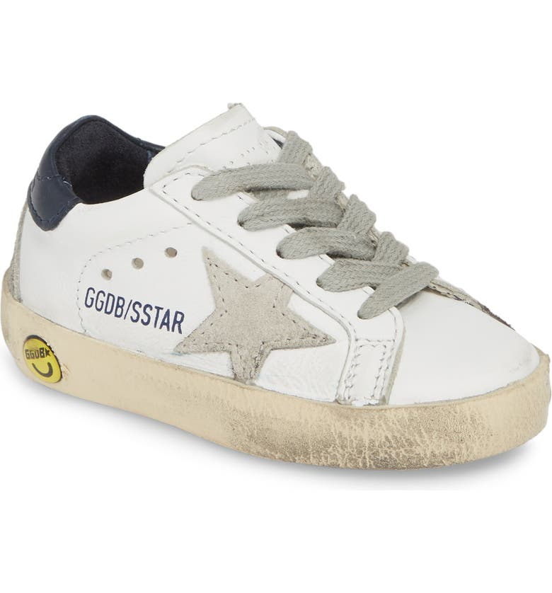 GOLDEN GOOSE Superstar Low Top Sneaker, Main, color, WHITE BLUE CREAM SOLE