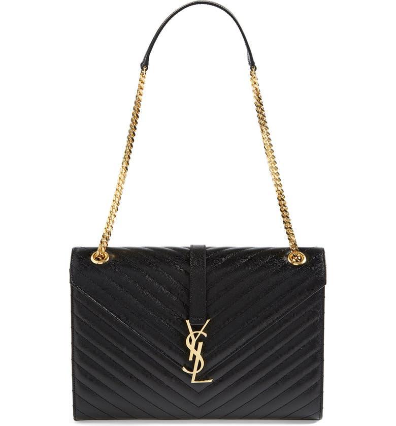 ea0682b0fe3 Saint Laurent 'Monogram' Leather Shoulder Bag | Nordstrom