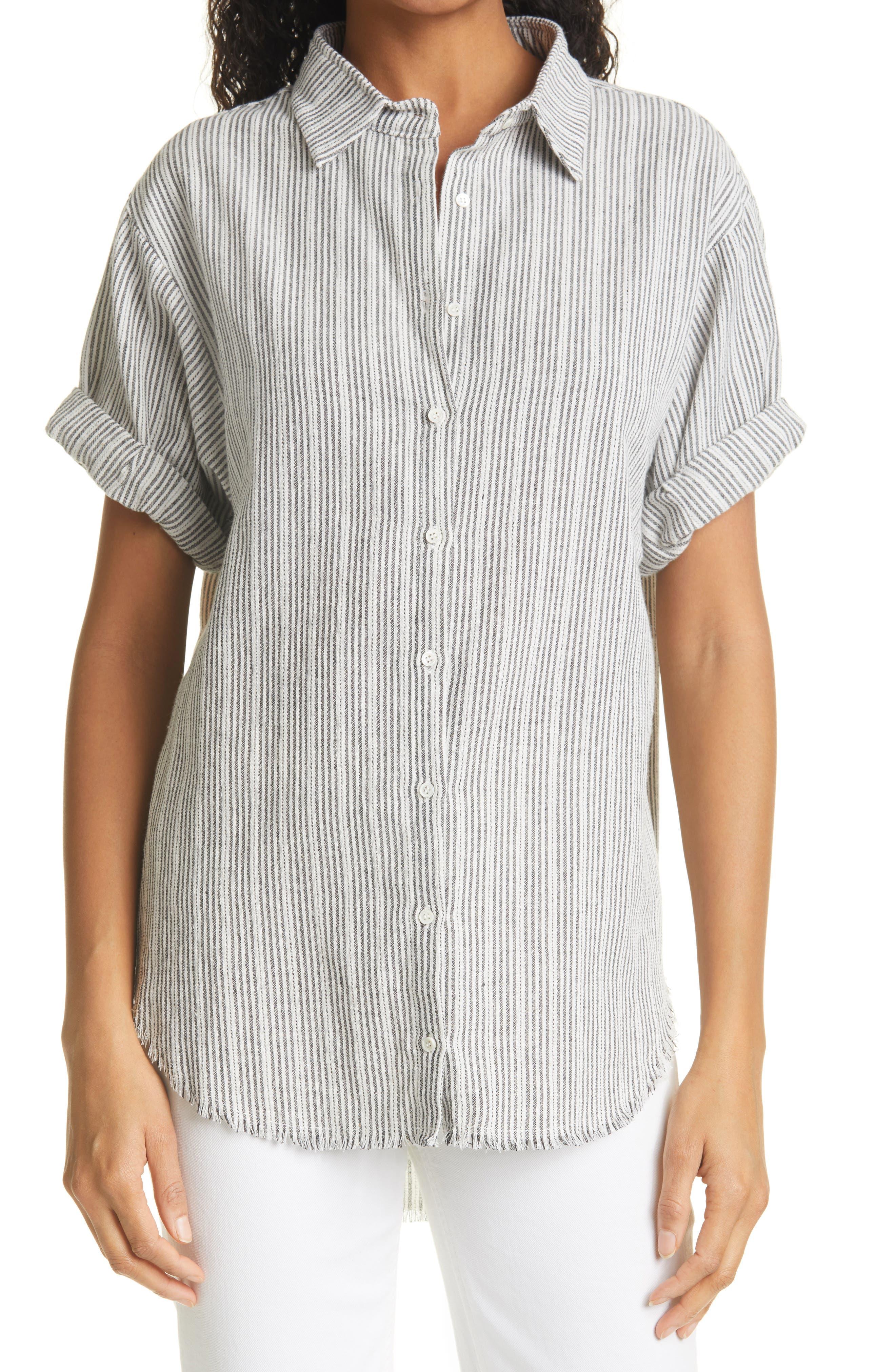 Ulla Stripe Short Sleeve Camp Shirt