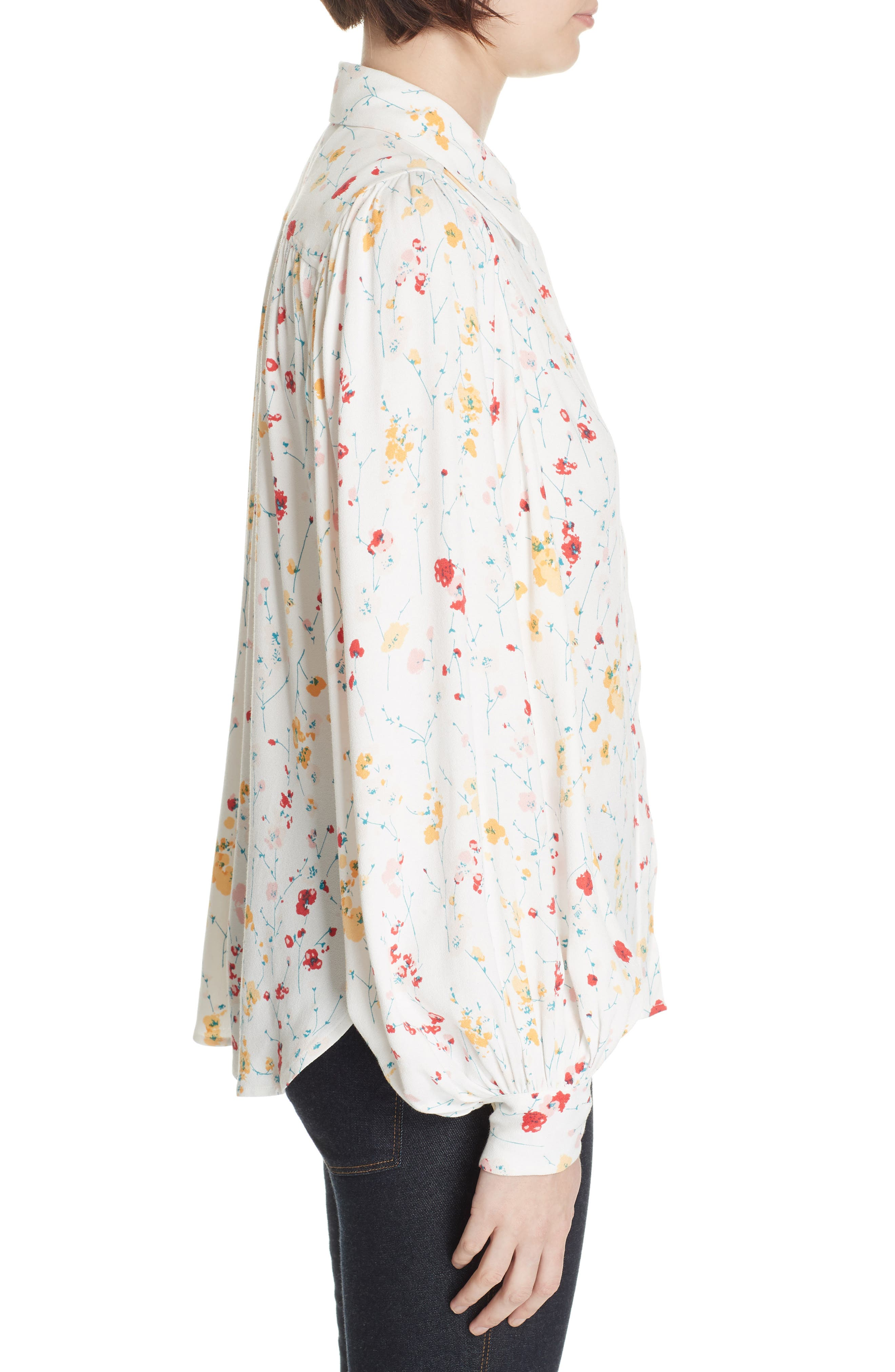 ,                             Marcilly Blouse,                             Alternate thumbnail 3, color,                             100