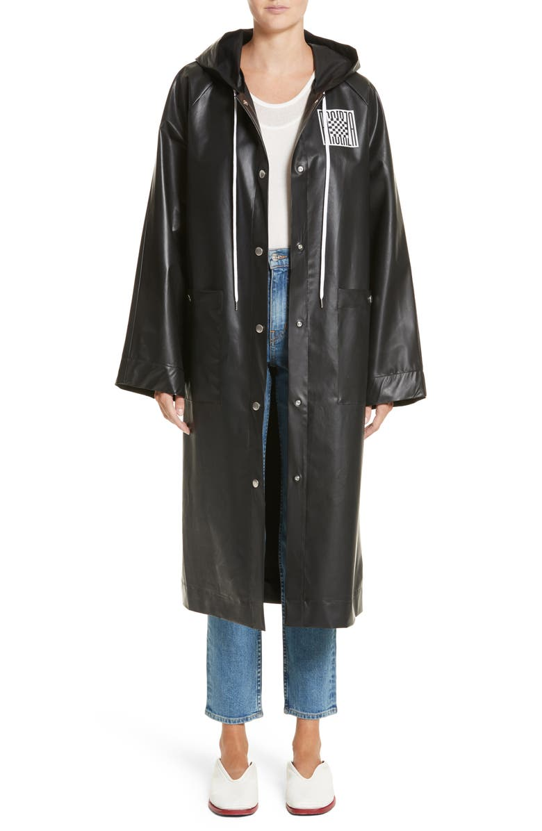 PROENZA SCHOULER PSWL Graphic Raincoat, Main, color, 001