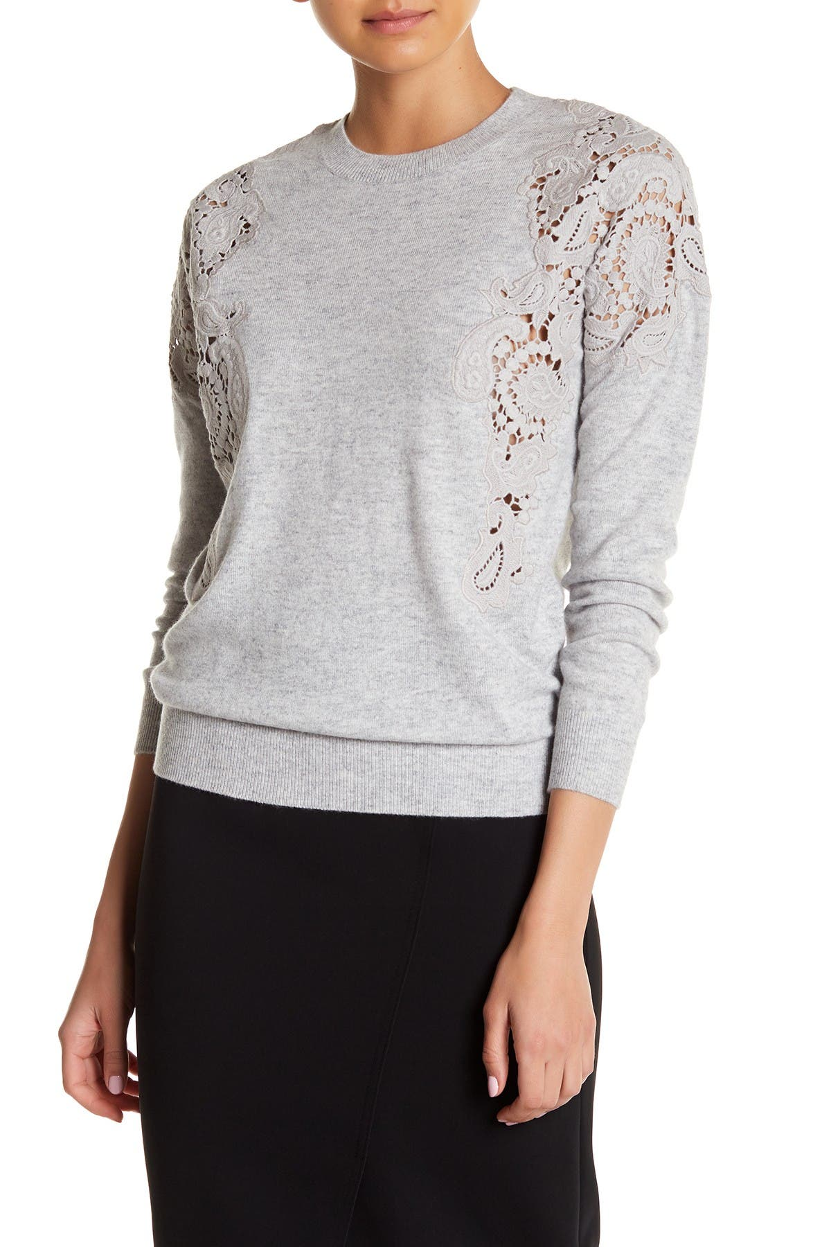 Image of Ted Baker London Tae Lace Shoulder Sweater