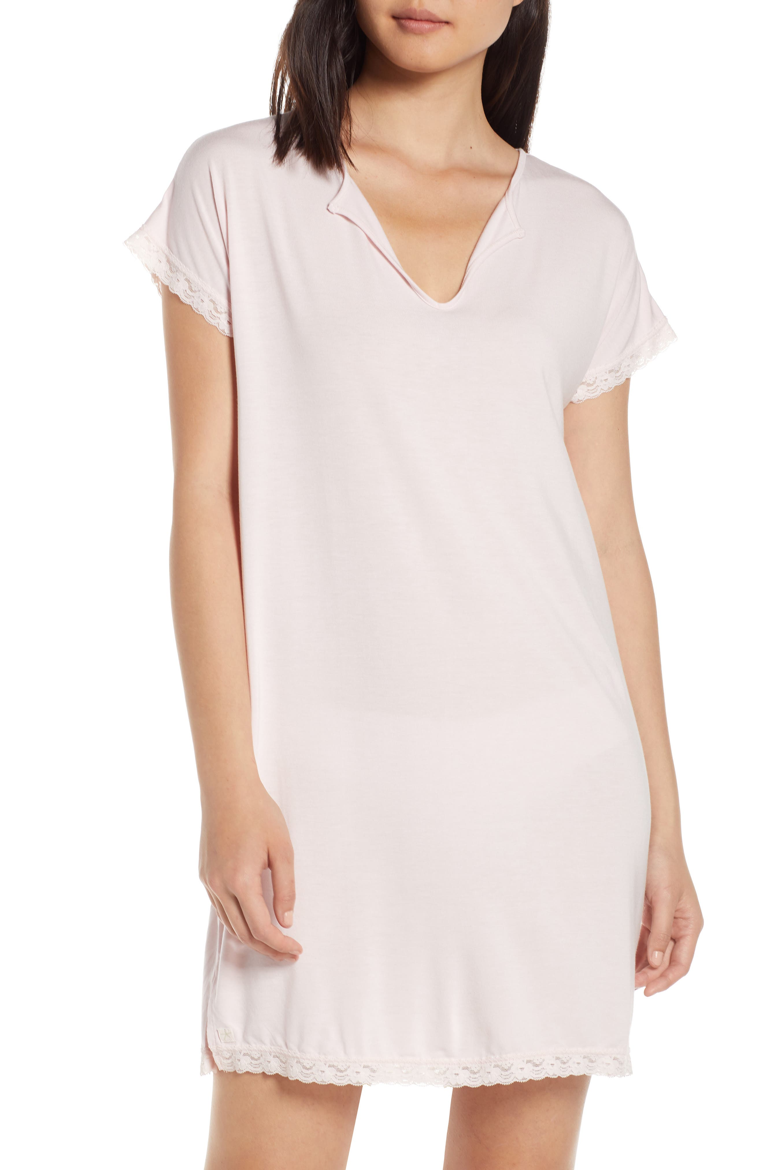 Barefoot Dreams Luxe Jersey Nightgown, Pink