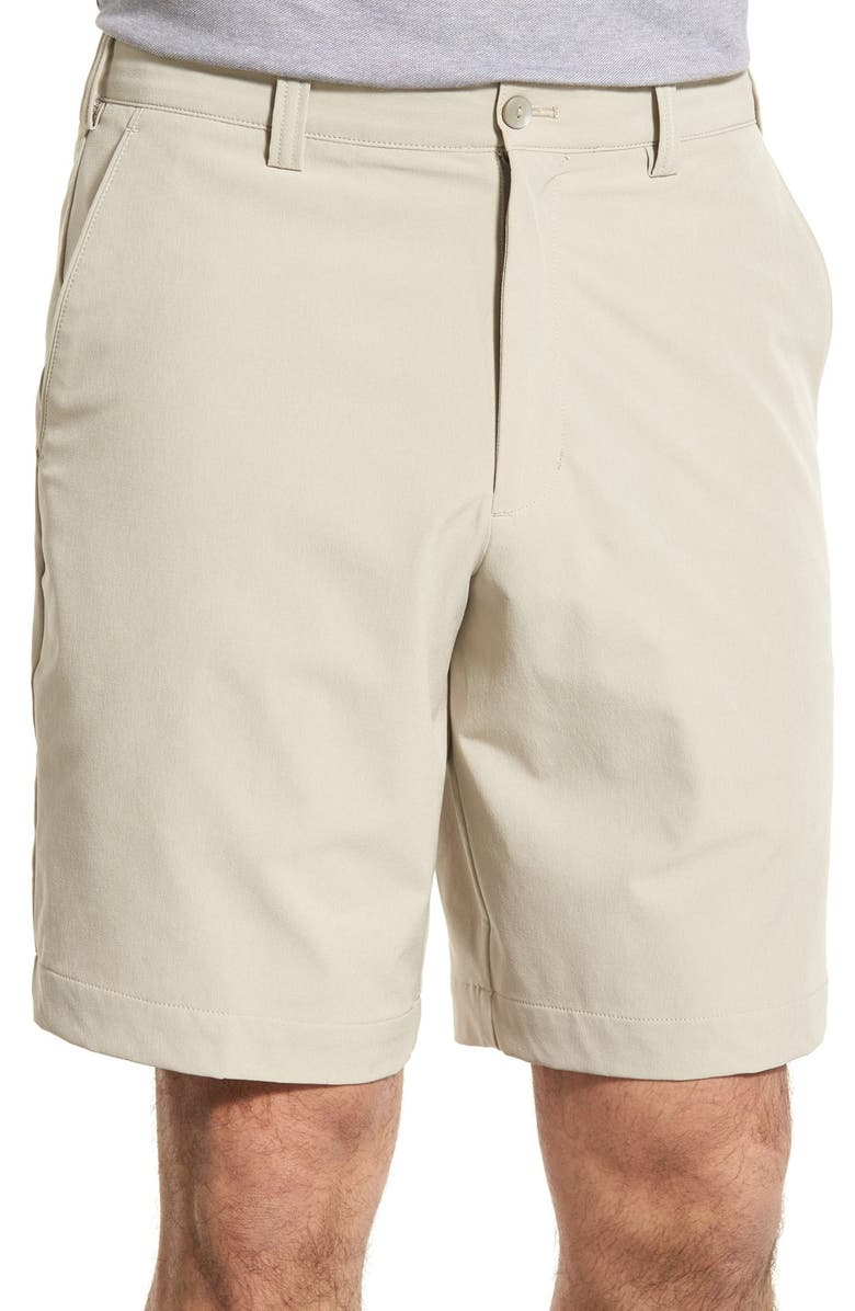 CUTTER & BUCK Bainbridge DryTec Flat Front Shorts, Main, color, CASTLE