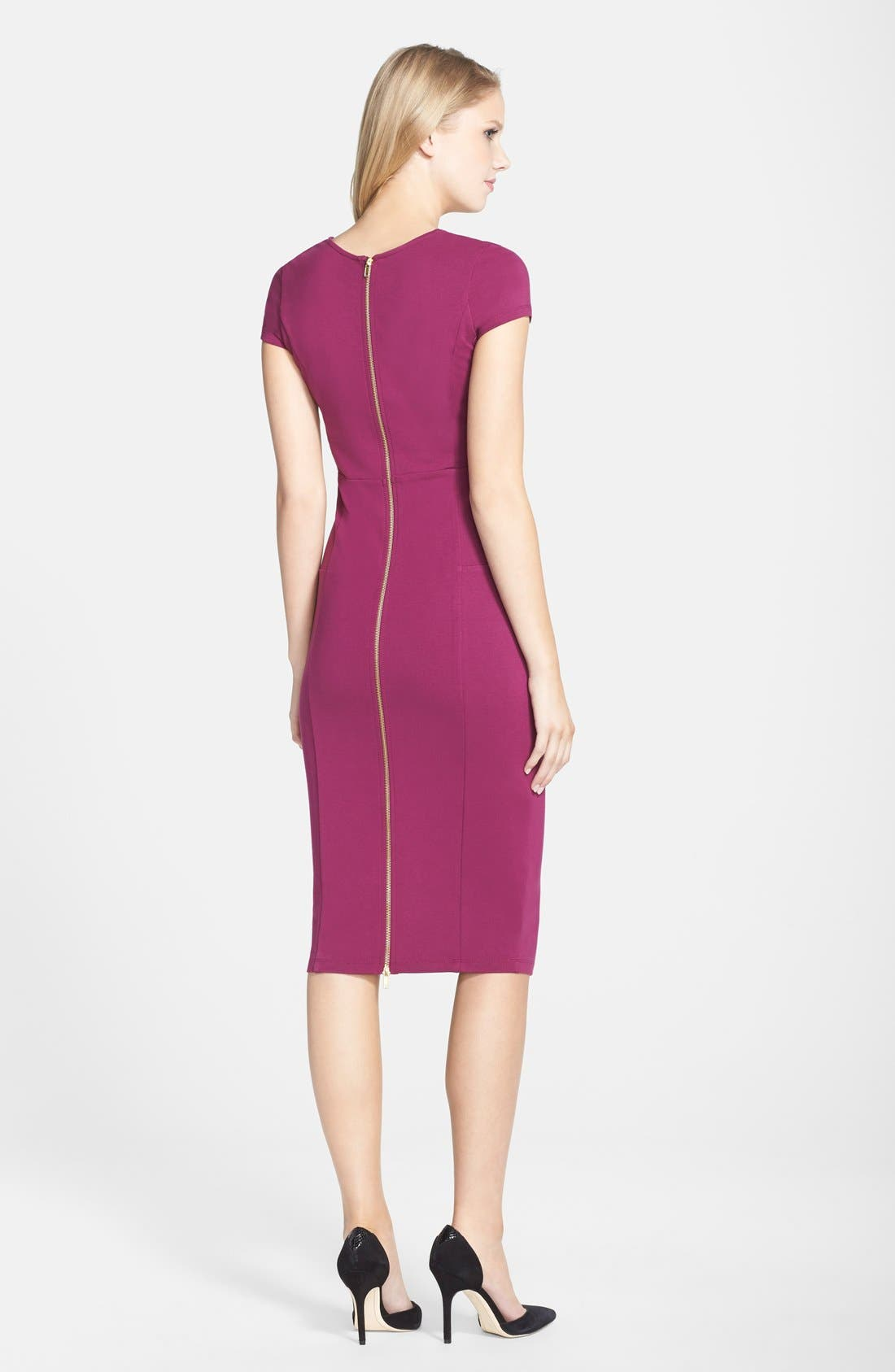 ,                             Ward Seamed Pencil Dress,                             Alternate thumbnail 55, color,                             508