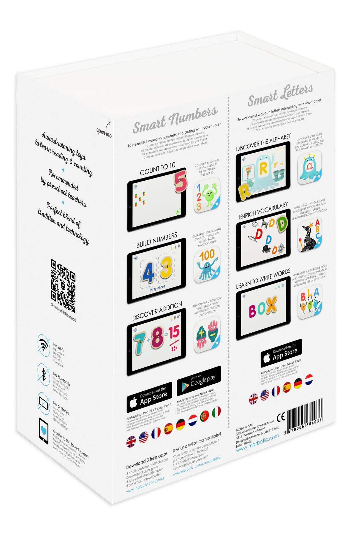Marbotic Smart Numbers & Letters Deluxe Learning Kit | Nordstrom