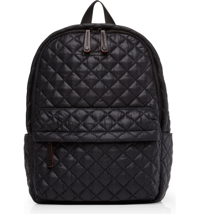 MZ WALLACE City Backpack, Main, color, BLACK