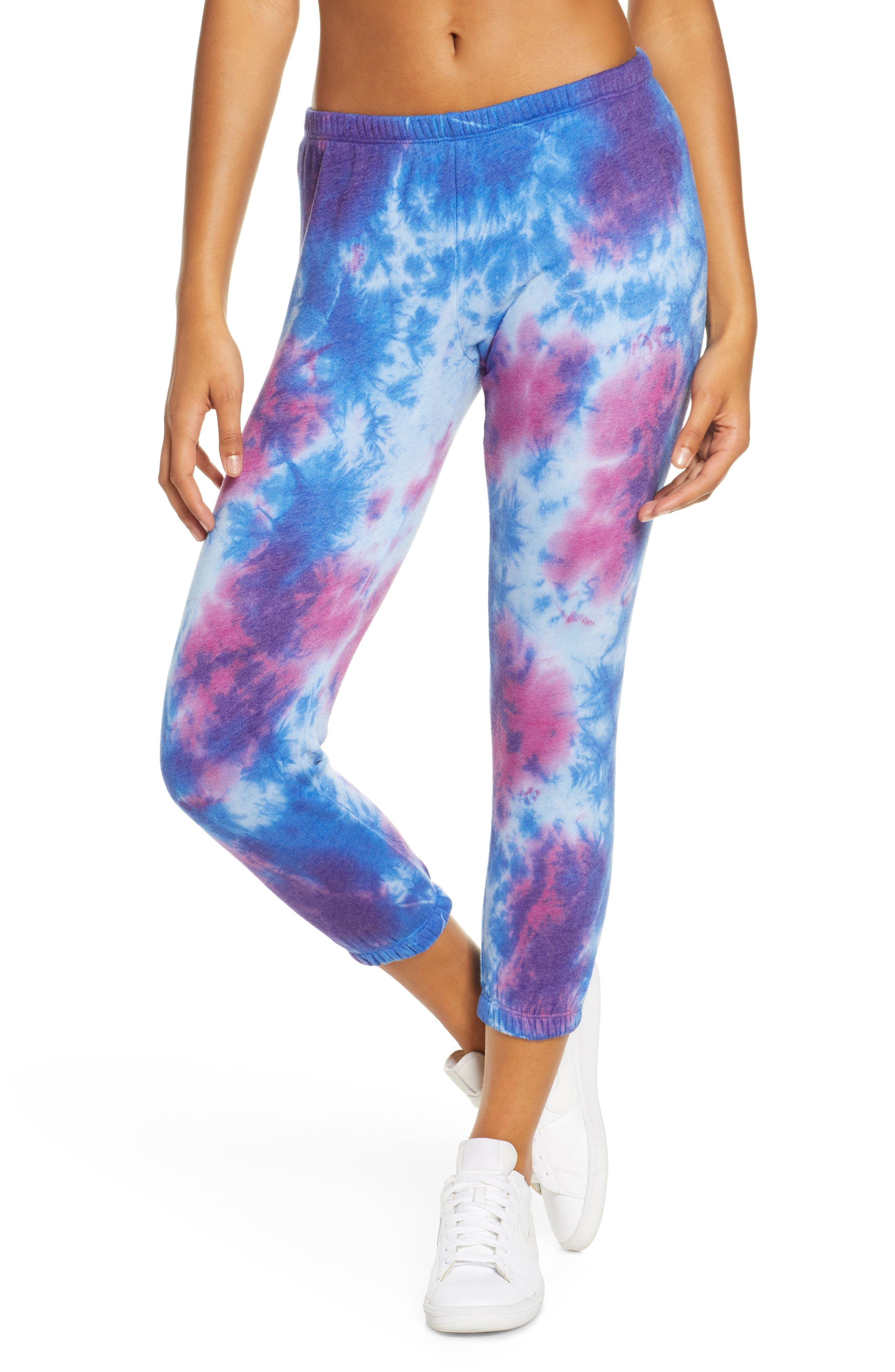 Women's Spiritual Gangster Perfect Tie Dye Crop Sweatpants