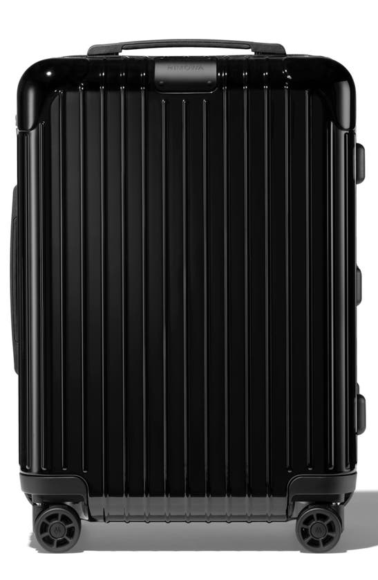 Rimowa Essential Cabin Plus Carry-on Suitcase In Black - Polycarbonate - 22,1x17,8x9,9 In Coral