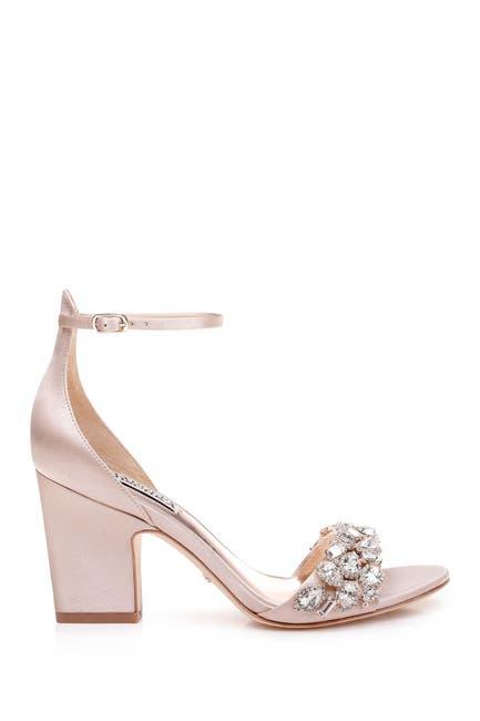 Image of Badgley Mischka Laraine Embellished Ankle Strap Sandal