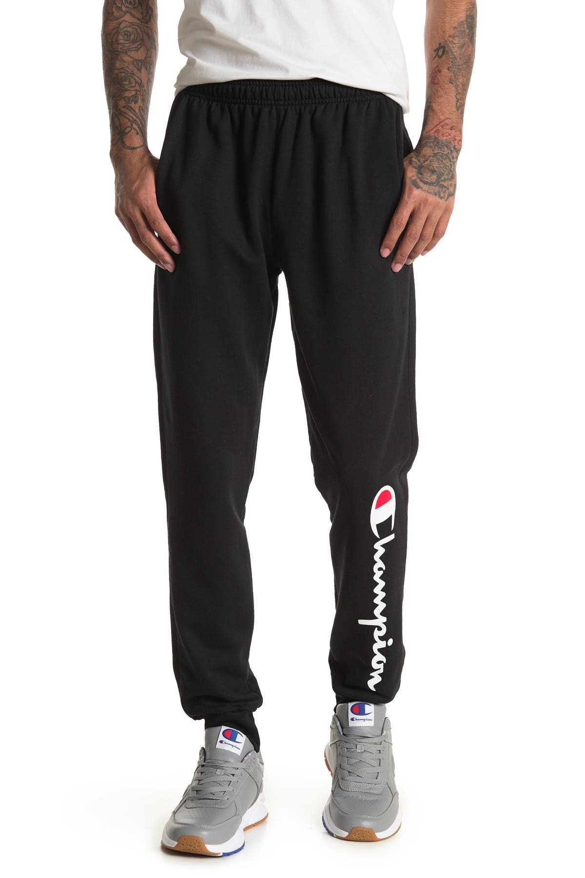 Image of Champion Powerblend Logo Sweatpants