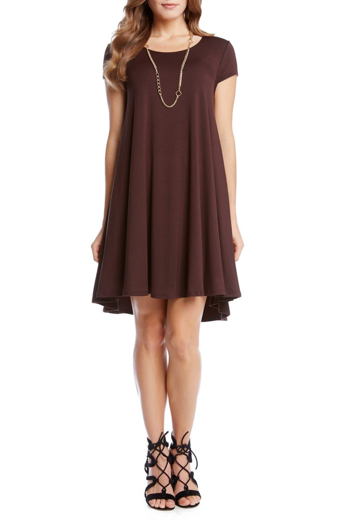 ,                             'Maggie' Cap Sleeve Trapeze Dress,                             Main thumbnail 7, color,                             201