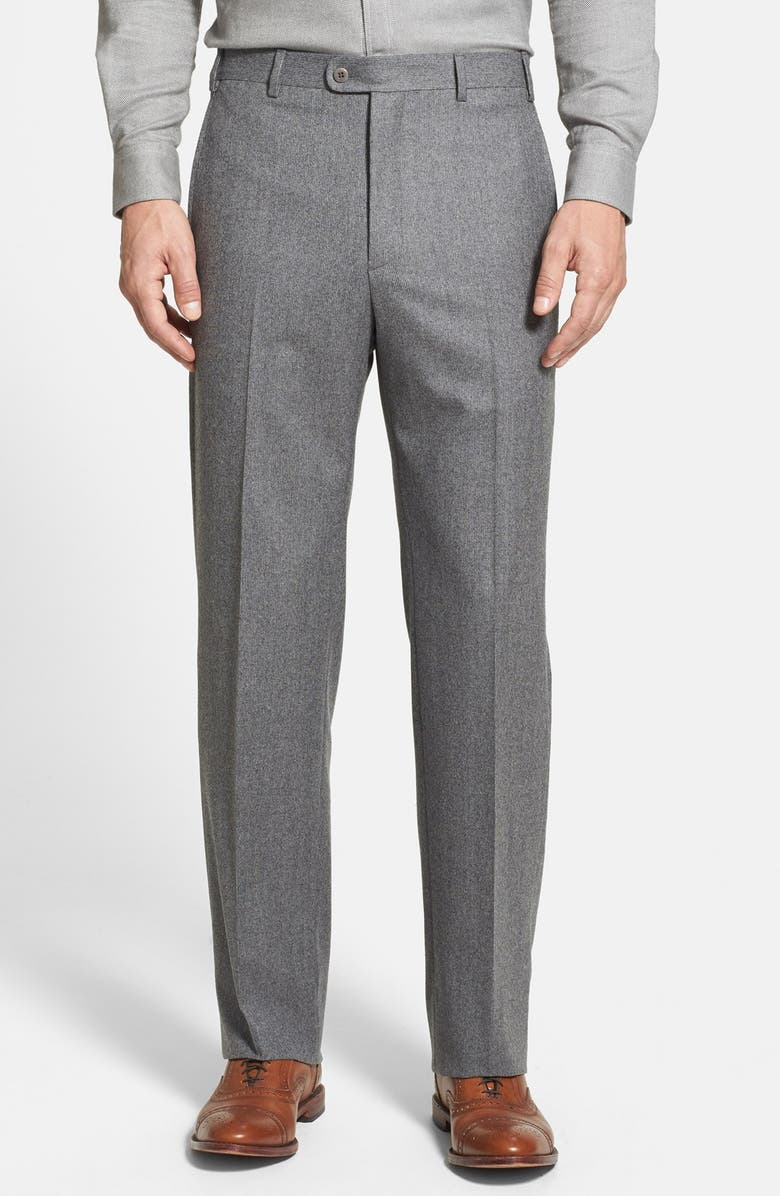 ZANELLA 'Todd' Flat Front Wool Trousers, Main, color, 030
