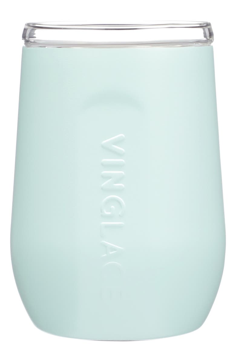 VINGLACÉ Stemless Wine Glass, Main, color, SEA GLASS