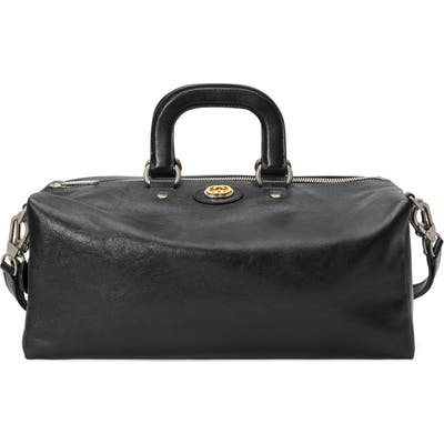 Gucci Leather Convertible Duffel Bag - Black