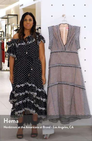 gingham midi dress, sales video thumbnail