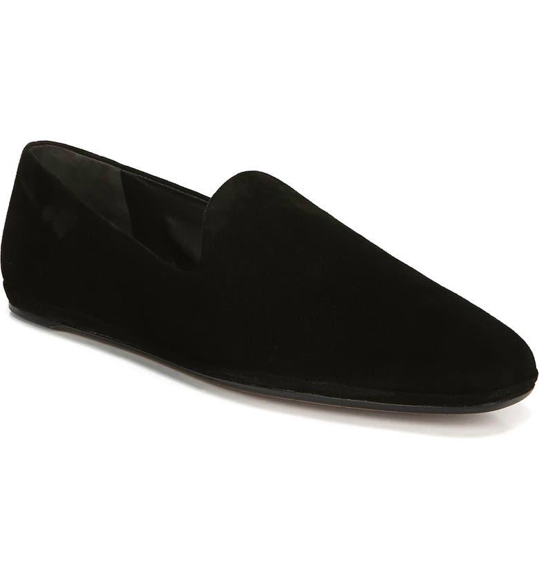 VINCE Paz Venetian Loafer, Main, color, BLACK SUEDE