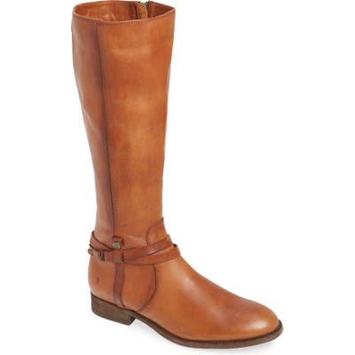 Frye Melissa Belted Knee-High Riding Boot Regular Calf- Brown