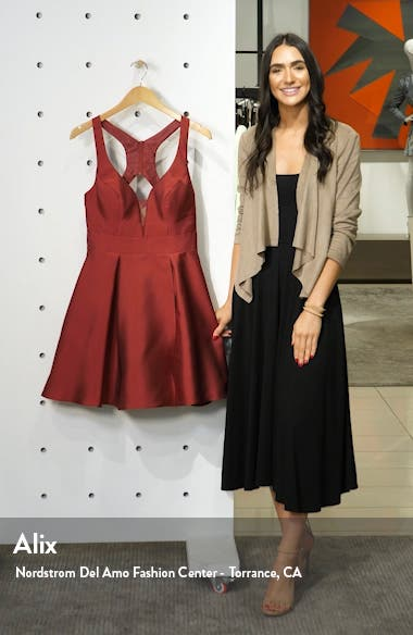 Mikado Fit & Flare Dress, sales video thumbnail