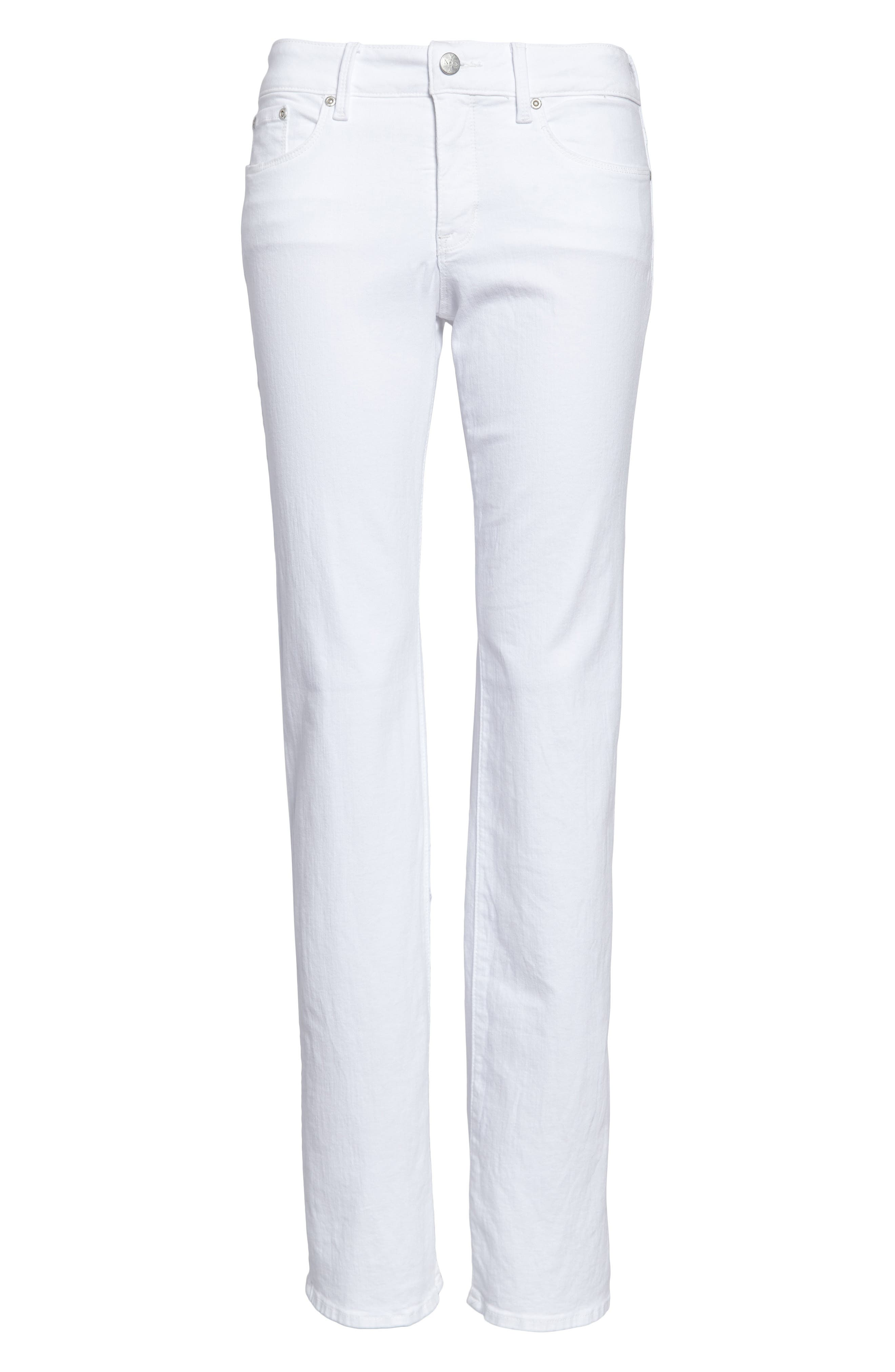 ,                             Marilyn High Waist Stretch Straight Jeans,                             Alternate thumbnail 5, color,                             OPTIC WHITE