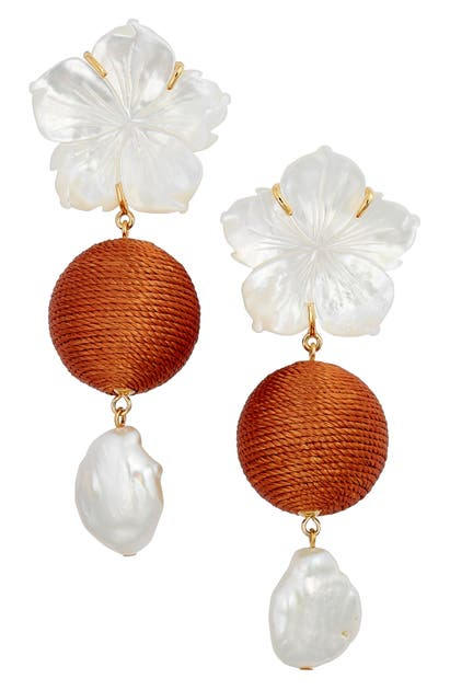 Lizzie Fortunato PAPER WHITE DROP EARRINGS