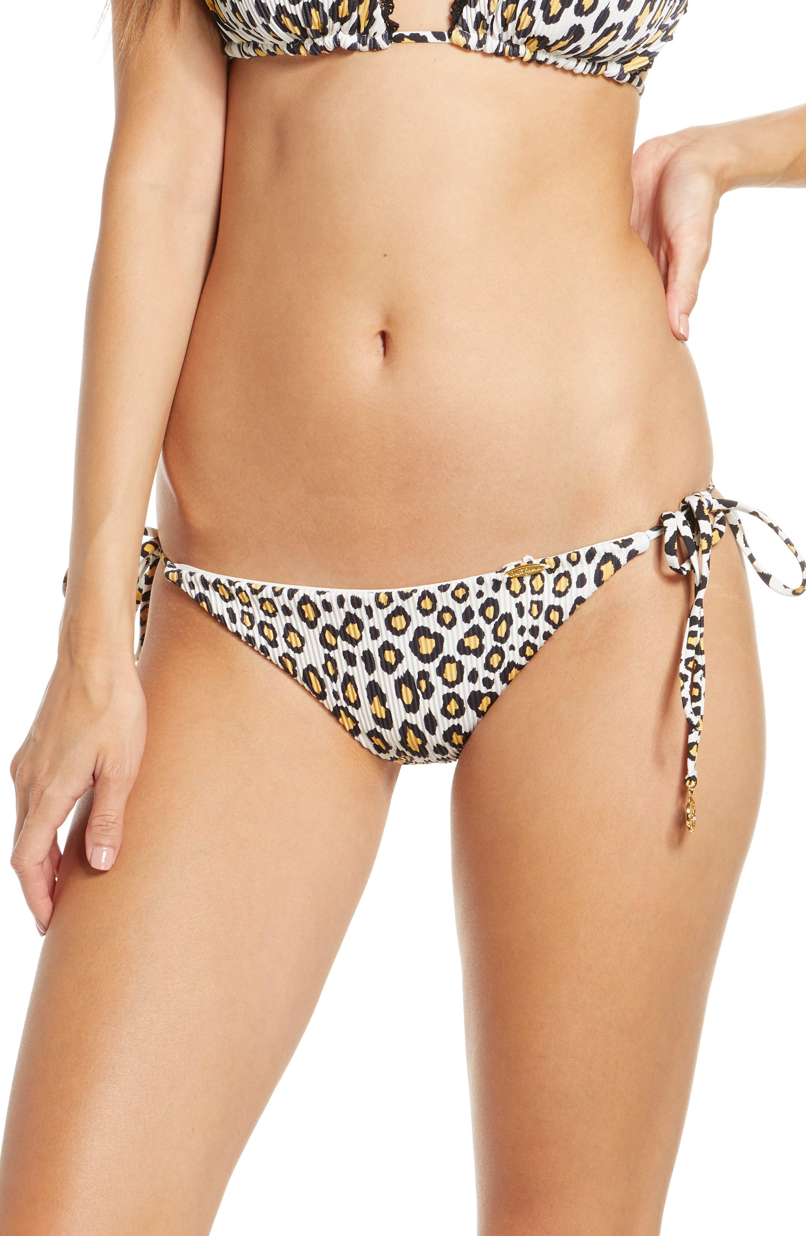 Reversible Leopard Brazilian Ruched Bikini Bottoms