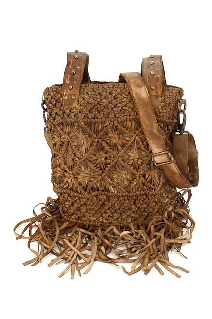 Image of Vintage Addiction Leather Macrame Fringe Style Bag