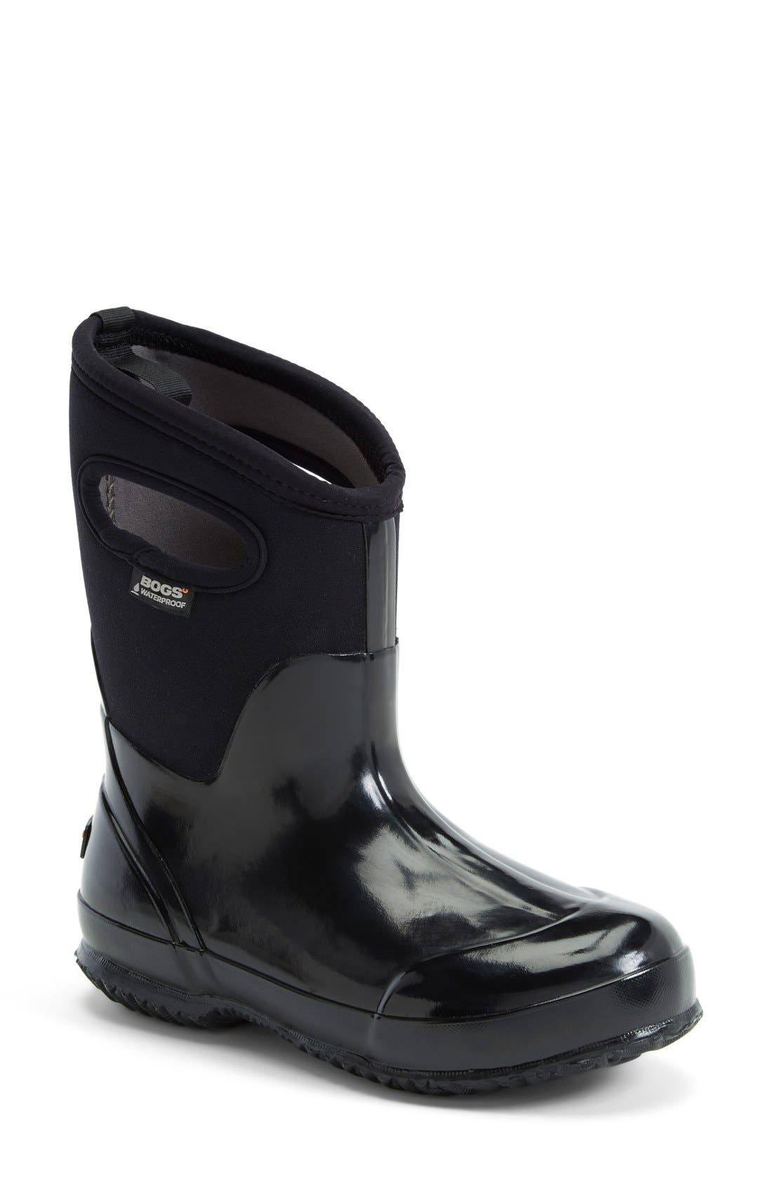 'Classic' Mid High Waterproof Snow Boot With Cutout Handles