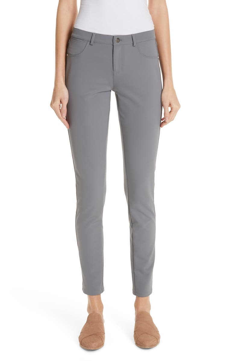 LAFAYETTE 148 NEW YORK Mercer Acclaimed Stretch Skinny Pants, Main, color, CINDER