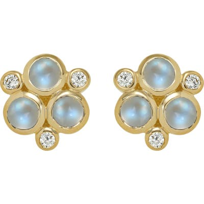 Temple St. Clair Classic Trio Moonstone Earrings
