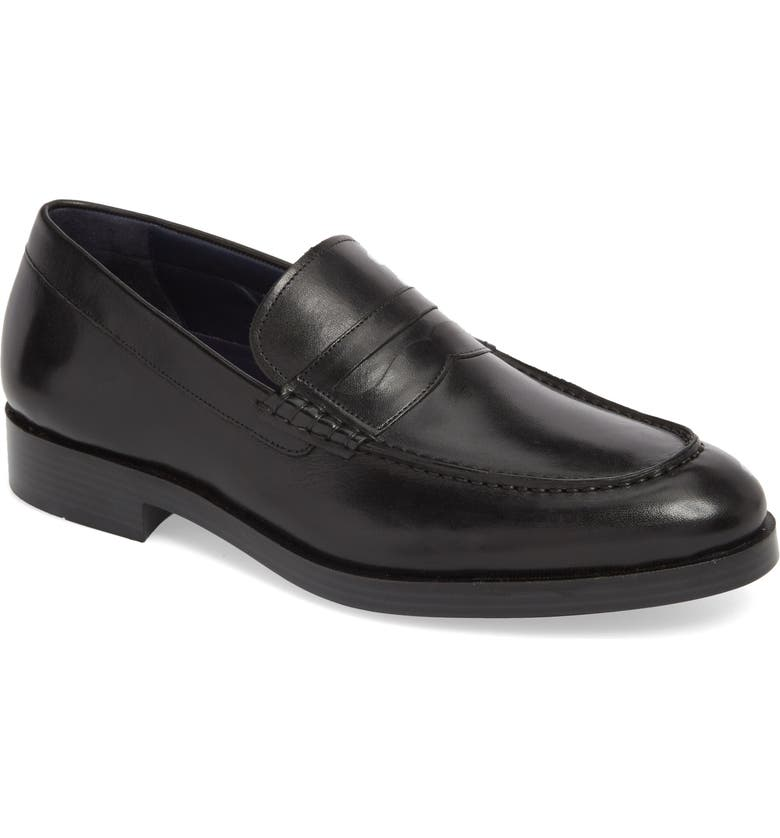 COLE HAAN Harrison Grand Penny Loafer, Main, color, BLACK LEATHER