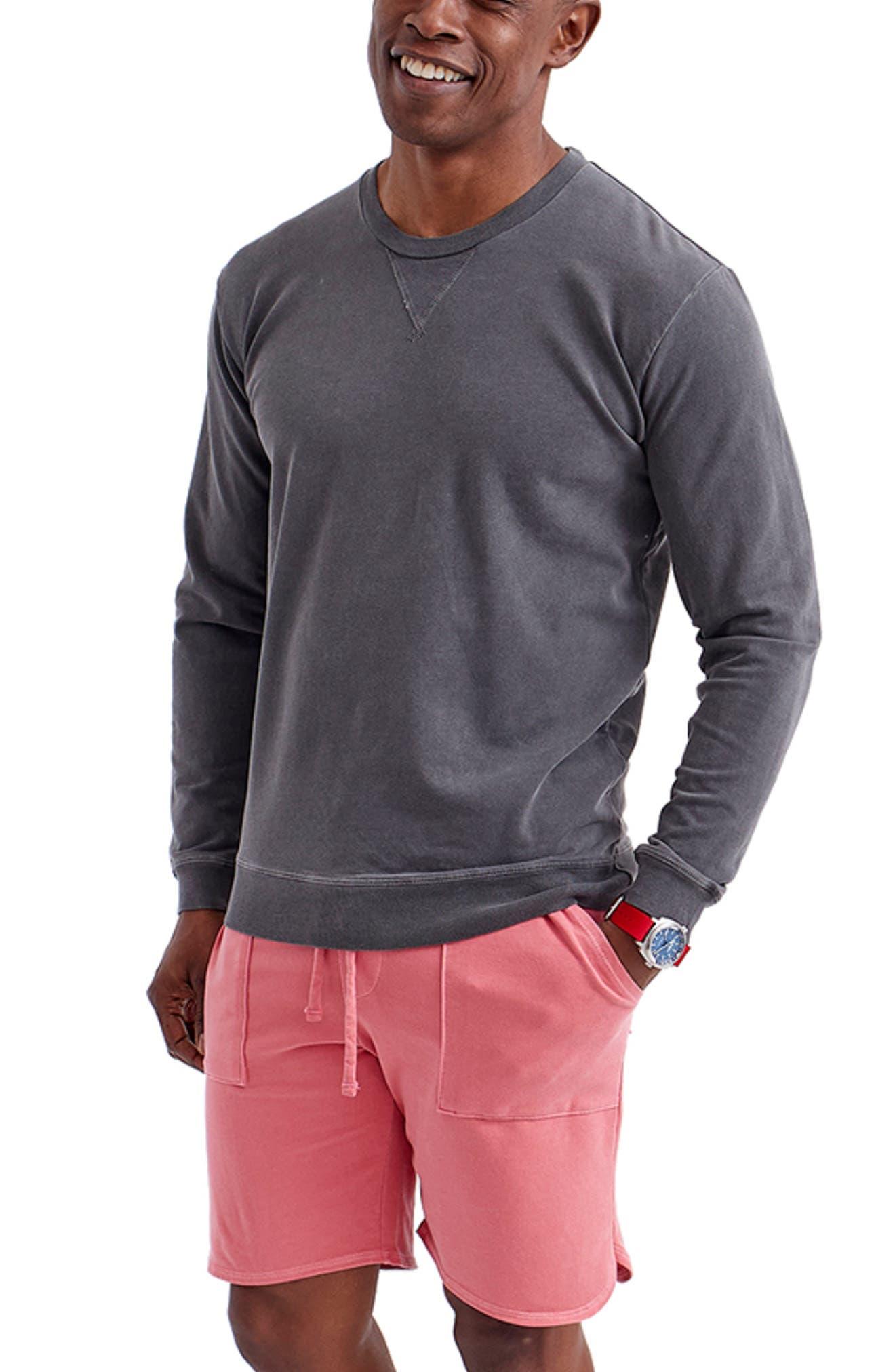 Sun Faded Micro Terry Cloth Sweatshirt