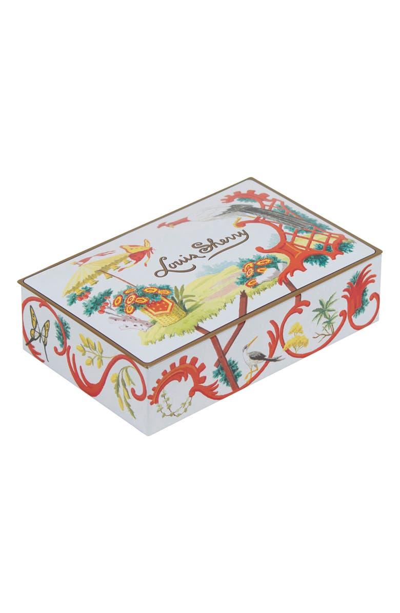 LOUIS SHERRY Jardin Chinois 12-Piece Chocolate Truffle Tin, Main, color, WHITE YELLOW CORAL