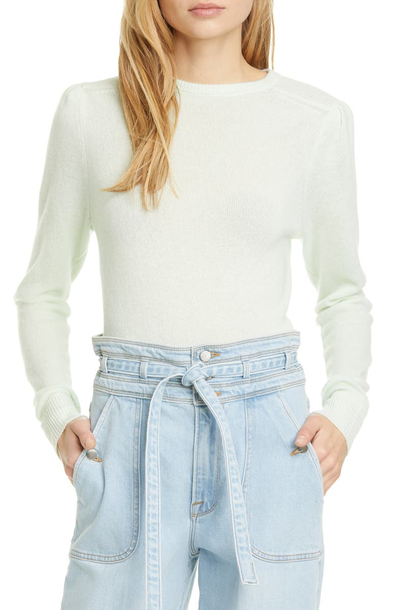 FRAME Easy Cashmere & Wool Sweater, Main, color, ALOE