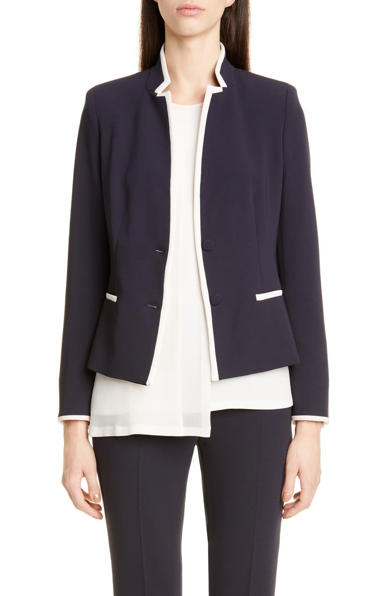 MAX MARA Robert Contrast Trim Cady Jacket, Main, color, ULTRAMARINE