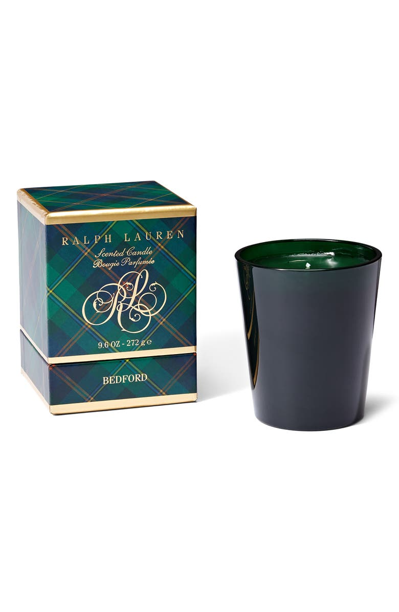 RALPH LAUREN Bedford Single Wick Holiday Candle, Main, color, GREEN